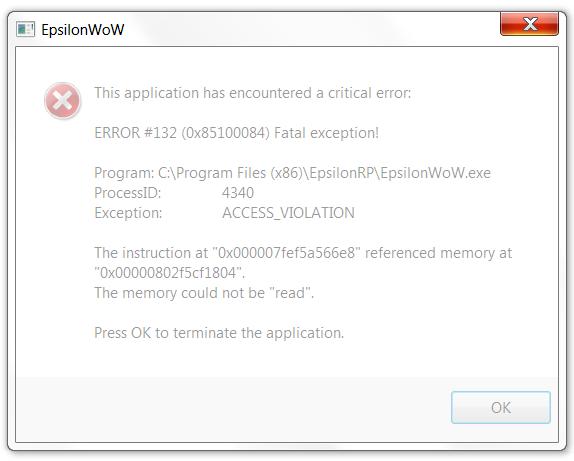 Crashing on startup - Resolved Issues Archive - EpsilonWoW
